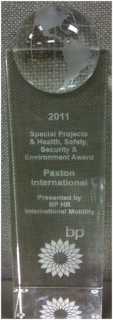 BP Special Projects Award Paxton International